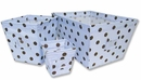 Max Blue and Brown Polka Dot 3 Piece Fabric Storage Bins by Trend Lab