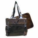 Max Blue and Brown Stripe Tote Diaper Bag by Trend Lab