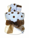 Max Polka Dot Blue & Chocolate Brown Baby Boy Bath Gift Cake