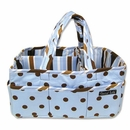 Max Polka Dot Diaper, Craft or Scrapbooking Storage Caddy
