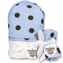 Max Polka Dot Hooded Towel and Washcloth Set by Trend Lab