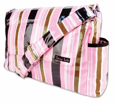 Maya Pink and Brown  Messenger Diaper Bag