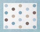Mod Dots Blue Accent Floor Rug by Sweet Jojo Designs