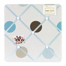 Mod Dots Blue and Brown Polka Dot Fabric Memo Board