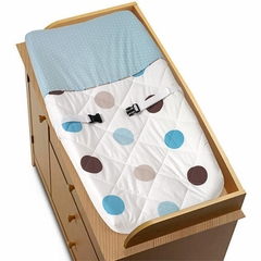 Mod Dots Blue Changing Pad Cover By Sweet Jojo Designs