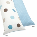 Mod Dots Blue Polka Dot Collection Body Pillow Cover