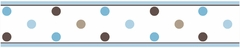 Mod Dots Blue Wall Paper Border By Sweet Jojo Designs