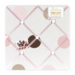 Mod Dots Pink and Brown Polka Dot Fabric Memo Board