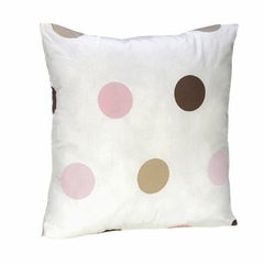 Mod Dots Pink Polka Dot Decorative Pillow