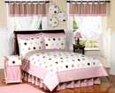 Mod Dots Pink Polka Dot Kids Bedding - 3 Piece Full/Queen Set