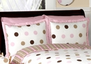 Mod Dots Pink Polka Dot Pillow Sham by Sweet Jojo Designs