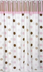 Mod Dots Pink Polka Dot Shower Curtain by Sweet Jojo Designs