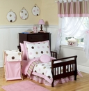 Mod Dots Pink Polka Dot Toddler Bedding Set