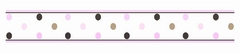 Mod Dots Pink Wall Paper Border By Sweet Jojo Designs
