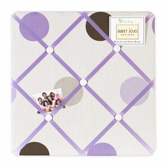 Mod Dots Purple and Brown Polka Dot Fabric Memo Board