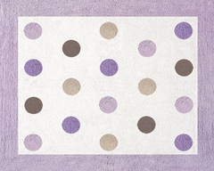 Mod Dots Purple Polka Dot Accent Floor Rug by Sweet Jojo Designs