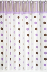 Mod Dots Purple Polka Dot Bathroom Shower Curtain - Sweet Jojo Designs