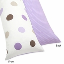 Mod Dots Purple Polka Dots Collection Body Pillow Cover