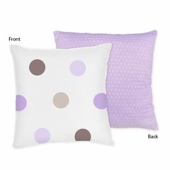 Mod Dots Purple Polka Dots Decorative Accent Throw Pillow