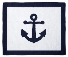 Nautical Anchor Accent Floor Rug