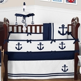 Nautical Anchor Baby Crib Bedding - 9 Pc Nursery Set