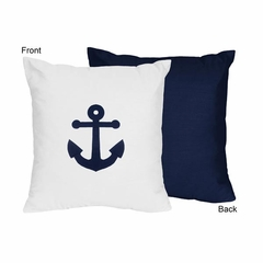 Nautical Anchor Decorative Accent Throw Pillow