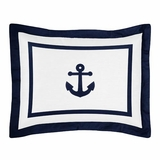Nautical Anchor Pillow Sham by Sweet Jojo Designs