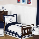 Nautical Anchor Toddler Bedding Set