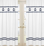 Nautical Anchor Window Curtain Panels