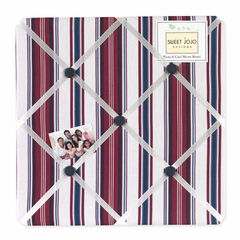 Nautical Nights Collection Stripe Fabric Memo Board