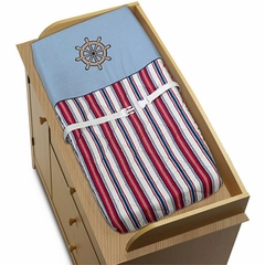 Nautical Nights Sailboat Changing Pad Cover by Sweet Jojo Designs