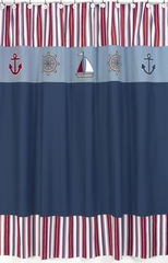Nautical Nights Sailboat Shower Curtain by Sweet Jojo Designs