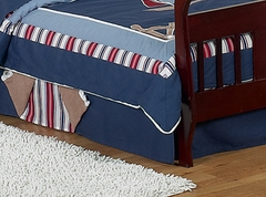 Nautical Nights Sailboat Toddler Bed Skirt by Sweet Jojo Designs