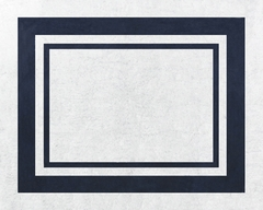 Navy and White Modern Hotel Accent Floor Rug