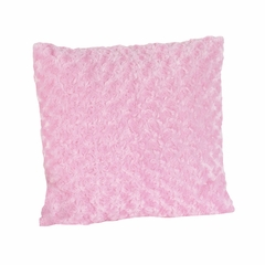 Olivia Collection Pink Minky Swirl Decorative Accent Throw Pillow