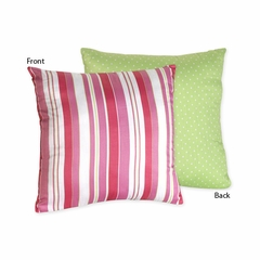 Olivia Polka Dot and Stripe Decorative Accent Throw Pillow