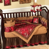 Oriental Garden Asian Baby Bedding - 9 Piece Crib Set