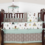 Outdoor Nature Baby Boy Crib Bedding - 9 Pc Nursery Set