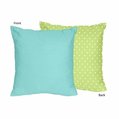 Owl Collection Turquoise and Lime Decorative Accent Throw Pillow