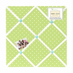 Owl Collection Turquoise and Lime Fabric Memo Board