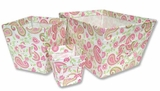 Paisley Park  3 Piece Fabric Storage Bins