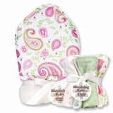 Paisley Park Hooded Towel and Washcloth Set