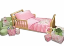 Paisley Park Pink and Green Paisley Print Toddler Bedding