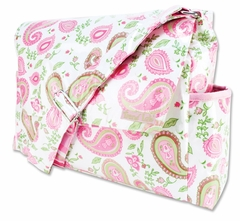 Paisley Park Pink Messenger Diaper Bag