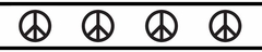Peace Sign Black and White Wall Paper Border by Sweet Jojo Designs