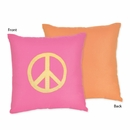 Peace Sign Decorative Accent Throw Pillow
