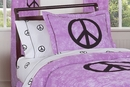 Peace Sign Tie Dye Purple Pillow Sham by Sweet Jojo Designs