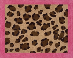 Pink and Brown Cheetah Print Accent Floor Rug by Sweet Jojo Designs