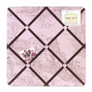 Pink and Brown French Toile Fabric Memo Board