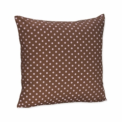 Pink and Brown Polka Dot Decorative Pillow